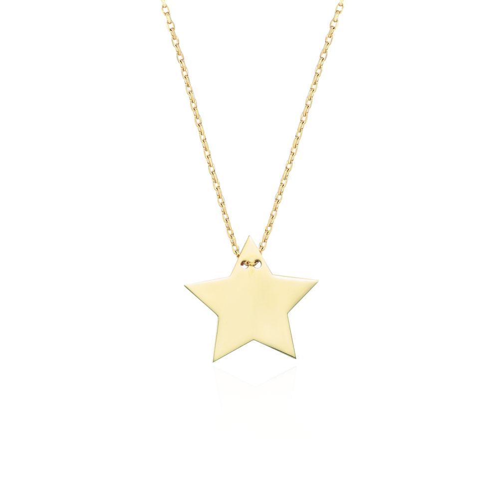 Glorria 14k Gold Star Necklace