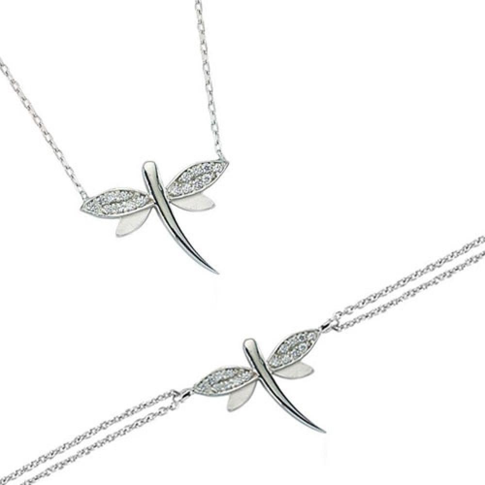 Glorria Silver Dragonfly Set