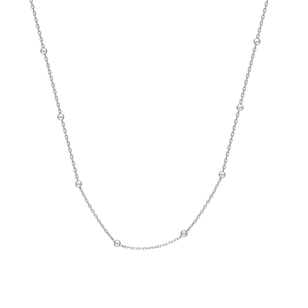 Glorria Silver Ball Chain