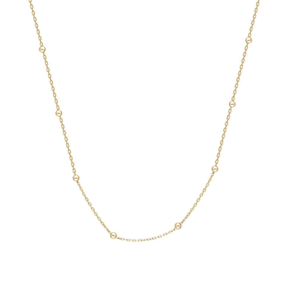 Glorria Gold 42cm Ball Force Chain Necklace