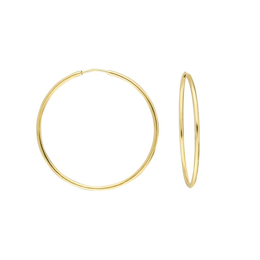 Glorria Gold 3,5 cm Hoop Earrings