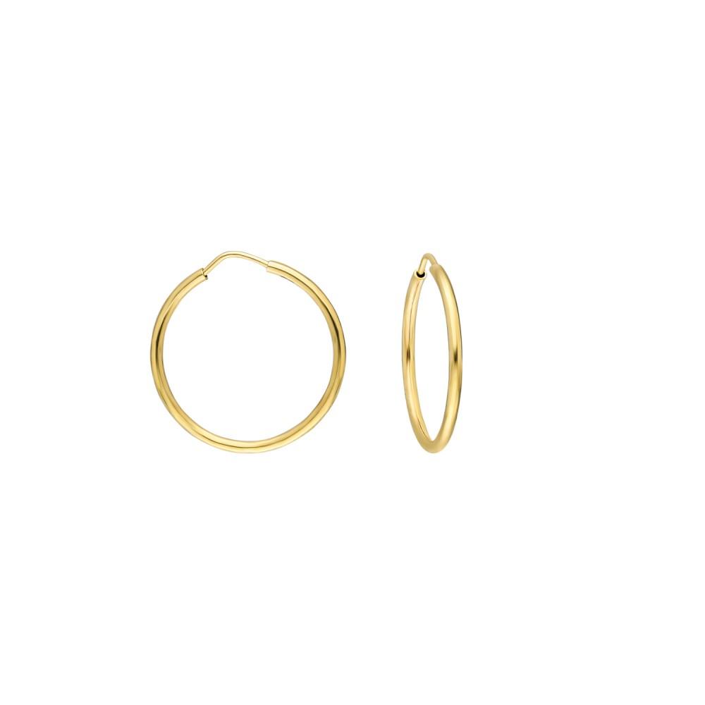 Glorria Gold 2 cm Hoop Earrings