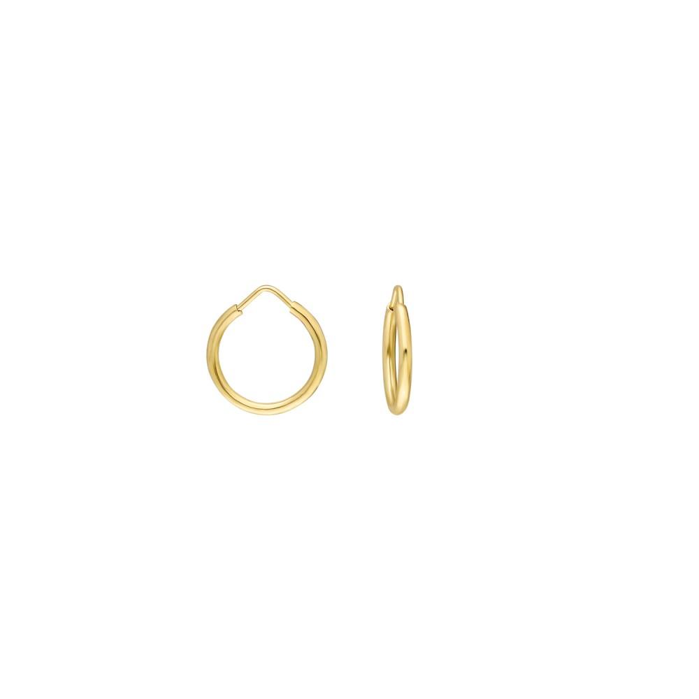 Glorria Gold 1,3 cm  Hoop Earrings